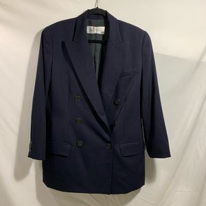 ELLEN TRACY LINDA ALLARD Wool Navy Blue Blazer 12